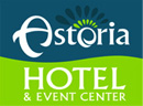 Astoria Hotel & Event Center Dickinson dark green and light green logo