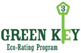 Green Key Eco-Rating Program logo in a light green and dark green colors