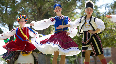 local events & festivals such as Ukranian Festival at Dickinson, North Dakota