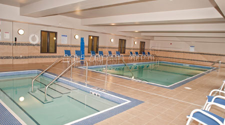 the pool features a lift, so everyone can enjoy the calming waters at Dickinson