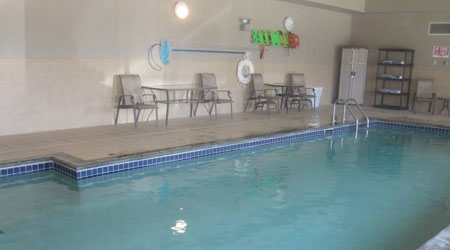 at Glendive, MT indoor pool and Jacuzzi open as early as 5am for all the early birds
