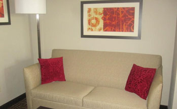 Glendive location has comfortable couches in there Queen suites